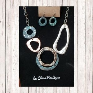 Chico Style Metal Link Necklace/Earring  Set